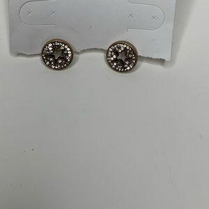 Marc Jacobs Gold Bling Star Burst Stud Earrings